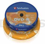 DVD-R 4,7GB 16x, 25ks